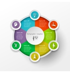 Circle infographic concept vector image