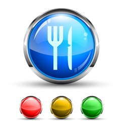 Dining button vector