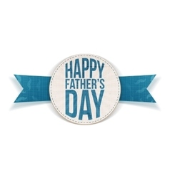 Happy fathers day festive banner with blue text vector