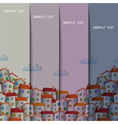 Layout design with colorful town vector