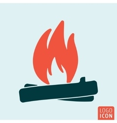 Bonfire icon isolated vector