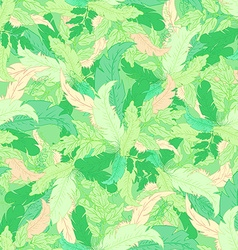 Hand drawn seamless pattern with green coloured vector