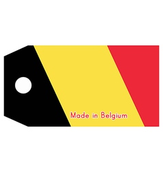 Belgium flag on price tag vector image