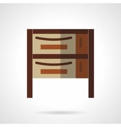 Cupboard flat color design icon vector image