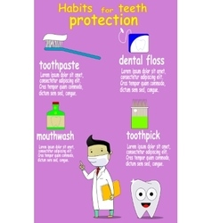 Dental care and health kids vector