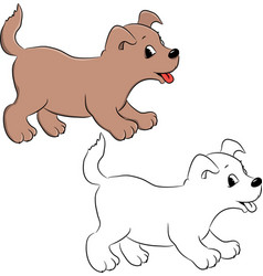 dog for coloring vector image vector image
