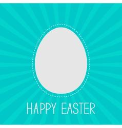Easter egg frame template dash line sunburst vector