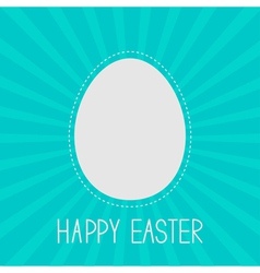 Easter egg frame template Dash line Sunburst vector image vector image