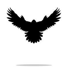 Falcon bird black silhouette animal vector