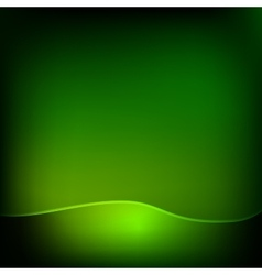 Green wave eco abstract natural background with vector image vector image