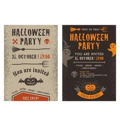 Halloween flyer vector