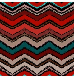 Hand drawn zigzag pattern in dark colors vector image vector image