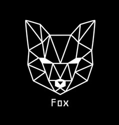 head of fox vector image