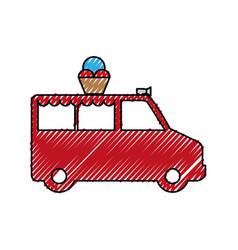 Ice cream truck vector