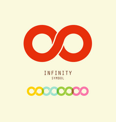 infinity symbol endless icons set vector image vector image