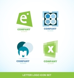Letter logo icon set abstract circle vector image vector image