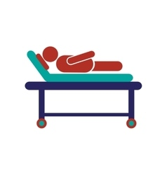 Modern flat icon on white background patient in vector