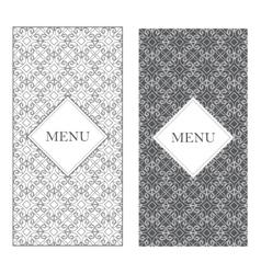 Seamless design texture menu vintage frame vector