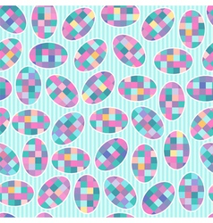 seamless pattern with checkered ovals vector image vector image