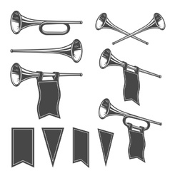 Set of mobochrome fanfare vector image