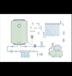 Set water heater electric for the vector
