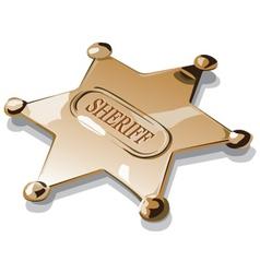 Sheriff badge vector
