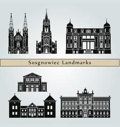 sosgnowiec landmarks vector image vector image