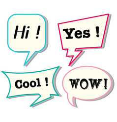 speech bubbles with different expressions vector image