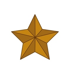 Star gold shape decoration icon graphic vector
