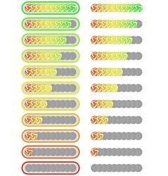 Ten level football player rating system vector