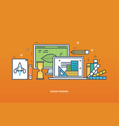 Training workflow technology and designer tools vector