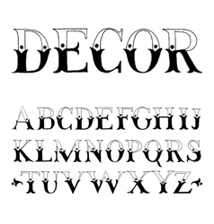 Vintage hand drawn type for your designs vector image