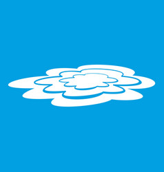 Water puddle icon white vector
