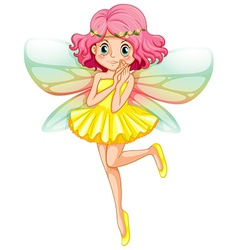 Yellow fairy vector