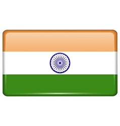 Flags India in the form of a magnet on vector image