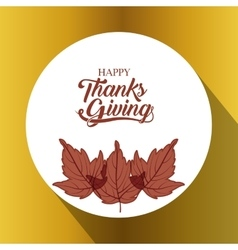 Leaves of thanks given design vector
