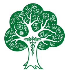 Medical tree vector