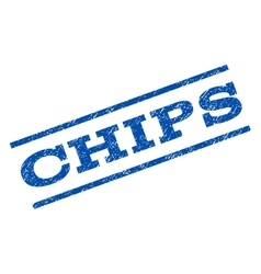 Chips watermark stamp vector