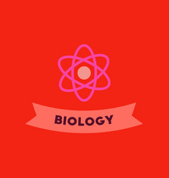 Flat icon on background biology molecule vector