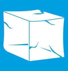 Ice icon white vector