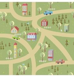 Cartoon map seamless pattern vector image