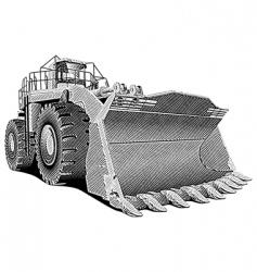 loader engraving vector image