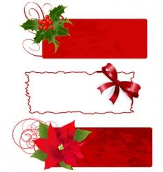 Christmas banners frames vector image