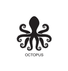 Silhouette of an octopus on light background vector