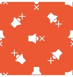 Orange muted loudspeaker pattern vector