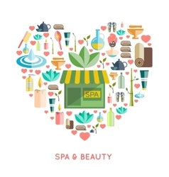 Spa and beauty concept vector