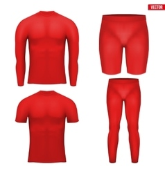 Thermal underwear layer compression set vector