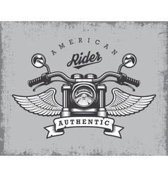 Vintage motorcycle print vector image