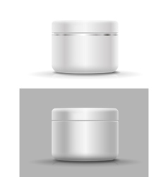 Blank cosmetic container for cream powder vector