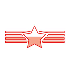 American emblem with star vector